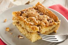 homemade coffee cake with cinnamon - stock photo
