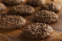 double chocolate chip oatmeal cookies - stock photo