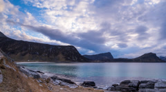 Clouds on the Lofoten Stock Footage