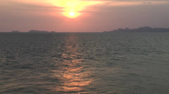 Thailand Ko Samui Island 097 sunset on the coast during departure Stock Footage