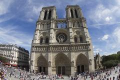 Stock Photo of notre dame cathedral, paris, fisheye