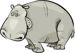 Stock Illustration of cartoon Hippopotamus