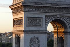 Stock Photo of the arc de triomphe in paris, france