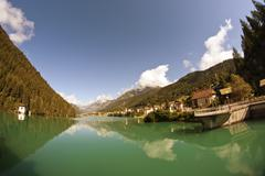 Auronzo Lake, Dolomites - stock photo