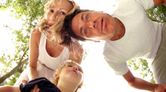 Family making funny faces Stock Footage