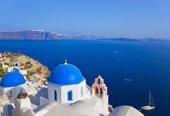 Santorini church (Oia), Greece Stock Photos