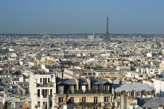 Paris skyline Stock Photos