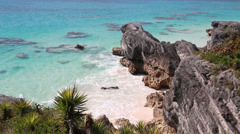 Bermuda Beach and Cove in South Shore Park Stock Footage