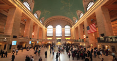 Commuter crowd people in Grand Central terminal station 4k - stock footage