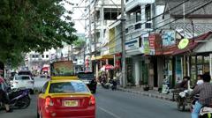 Thailand Ko Samui Island 082 street scene at the harborside Stock Footage