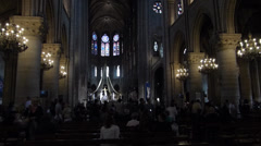 Notre Dame Cathedral in Paris Stock Footage