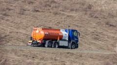 Fuel truck Stock Footage
