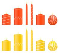 Stock Illustration of vector set candles