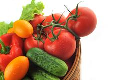 vegetables in the basket - stock photo
