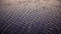 Waves of water surface in slow motion Stock Footage