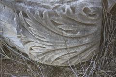 Corinthian Decor Detail in the Ancient Tell Kedesh - stock photo