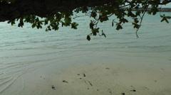 Thailand Ko Samui Island 079 waves flush around a small sandbar Stock Footage