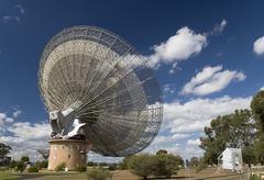 Radio Telescope Dish in Parkes, Australia Stock Photos