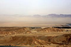 Panoramic View of the Plain of Aravah Stock Photos