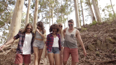 Stock Video Footage of Hipster friends in the woods