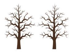 maple tree two draft, illustration - stock illustration