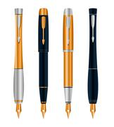 Stock Illustration of vector illustration of set abstract pens