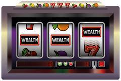 Slot Machine Wealth Stock Illustration