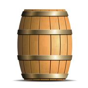 Stock Illustration of wooden barrel vector