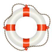 Lifesaver buoy isolated on white background Stock Illustration