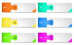 Stock Illustration of colorful options banner template. vector illustration