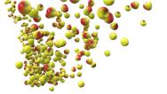 Stock Video Footage of Animated 3D apple falling.