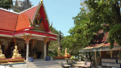 Thailand Ko Samui Island 047 one of the Wat Phra Yai temple buildings Stock Footage