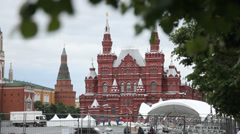 State Historical Museum on Red Square Stock Footage