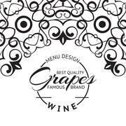 Wine list design layout. - stock illustration