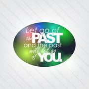 the past will let go of you - stock illustration