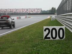 Stock Video Footage of Label distance track. Moscow raceway.