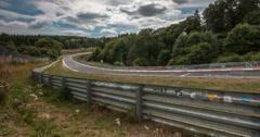 Nurburgring - Nordschleife track. Stock Footage