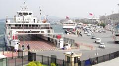 Eminonu Seaport in Istabul Stock Footage