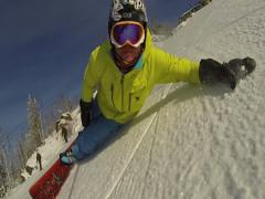 Extreme snowboarding. - stock footage