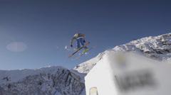 Free flight. Slow Motion. Stock Footage