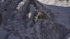 Rider jump from Big Air Stock Footage