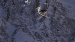 Freestyle skiing.  Super Slow Motion Stock Footage