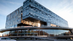 Central building SKOLKOVO Stock Footage