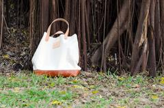 canvas bags with banyan tree - stock photo