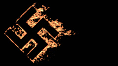 Burning swastika. Stock Footage