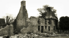 2ND WORLD WAR - Normandy house bombed Stock Footage