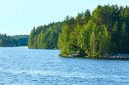 Stock Photo of lake summer view (finland).