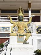 Giant statue in thai literature , thai temple Stock Photos