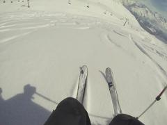 Skiing fresh powder Stock Footage