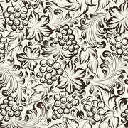 Vine seamless background - stock illustration